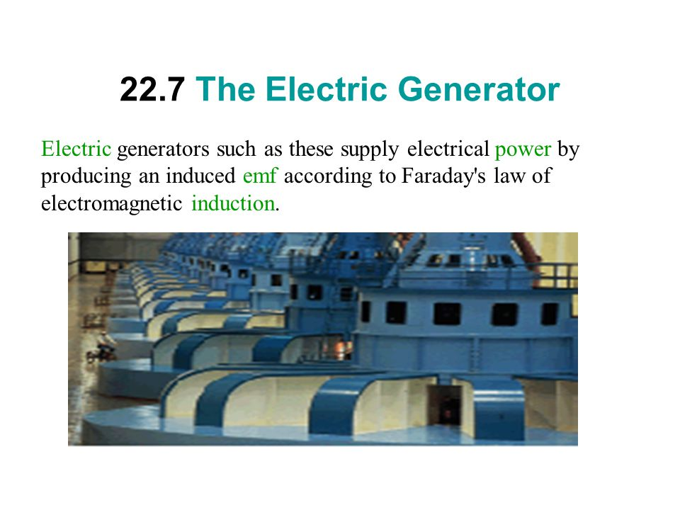 22.7 The Electric Generator