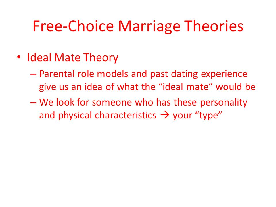 mate choice in an online dating site