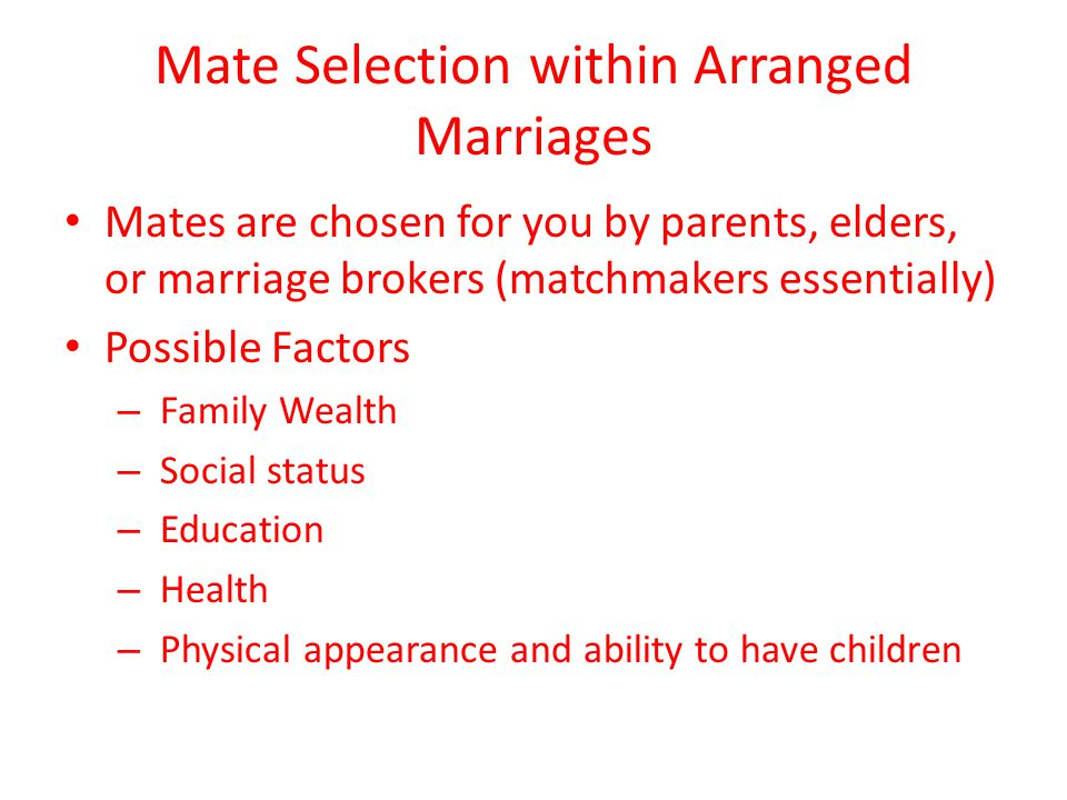 mate selection criteria for marital success Divorce are involved in extramarital affairs before the marital  rational choice and evolutionary  to lower their mate selection criteria in order to.