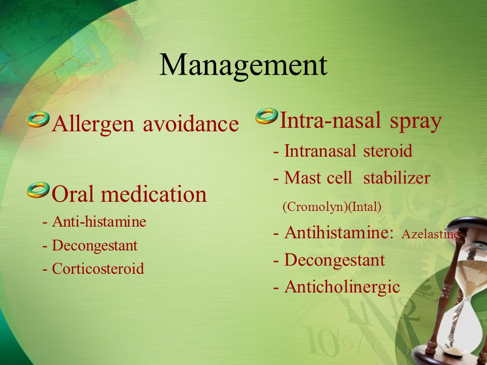 steroid nasal allergy medications