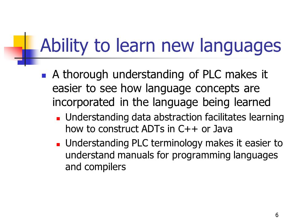 Ability to learn new languages