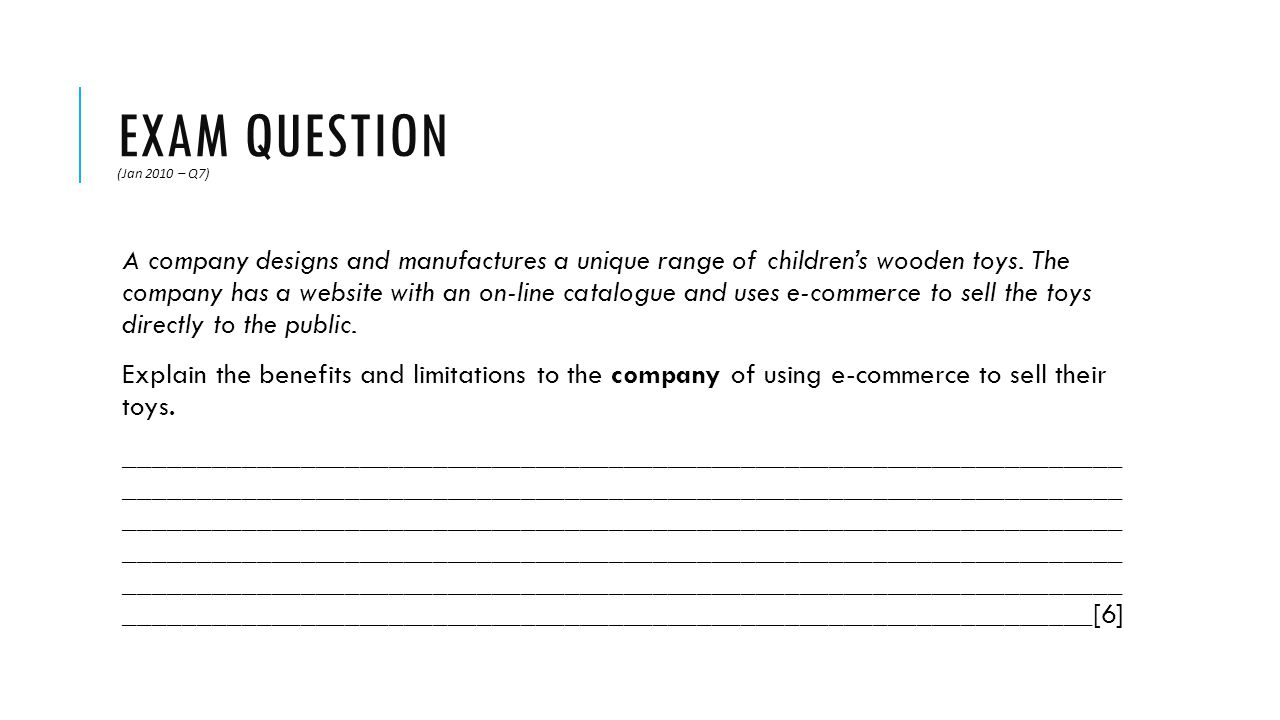 Exam Question (Jan 2010 – Q7)