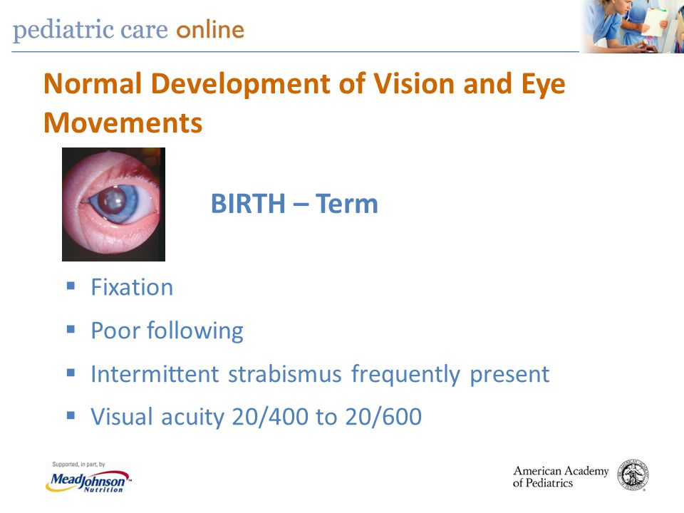 pediatric vision screening Pediatric annals   ophthalmic screening in children is the essential initial step in protecting against vision loss beginning in the newborn nursery and continuing throughout childhood, the.