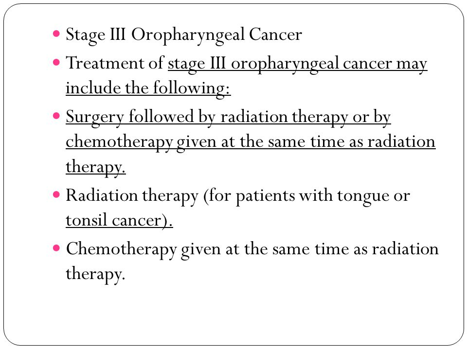 Stage III Oropharyngeal Cancer
