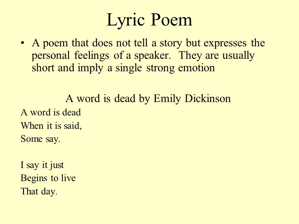 A word is dead by Emily Dickinson