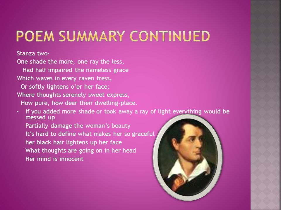 Poem summary continued