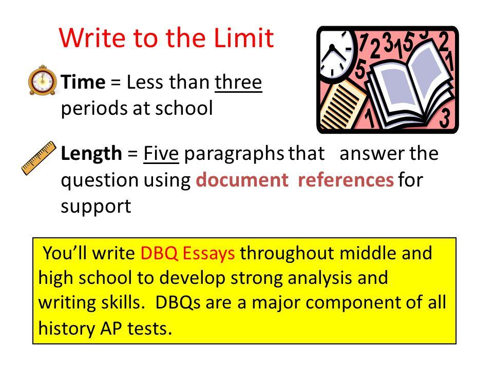 writing a dbq essay for ap us history