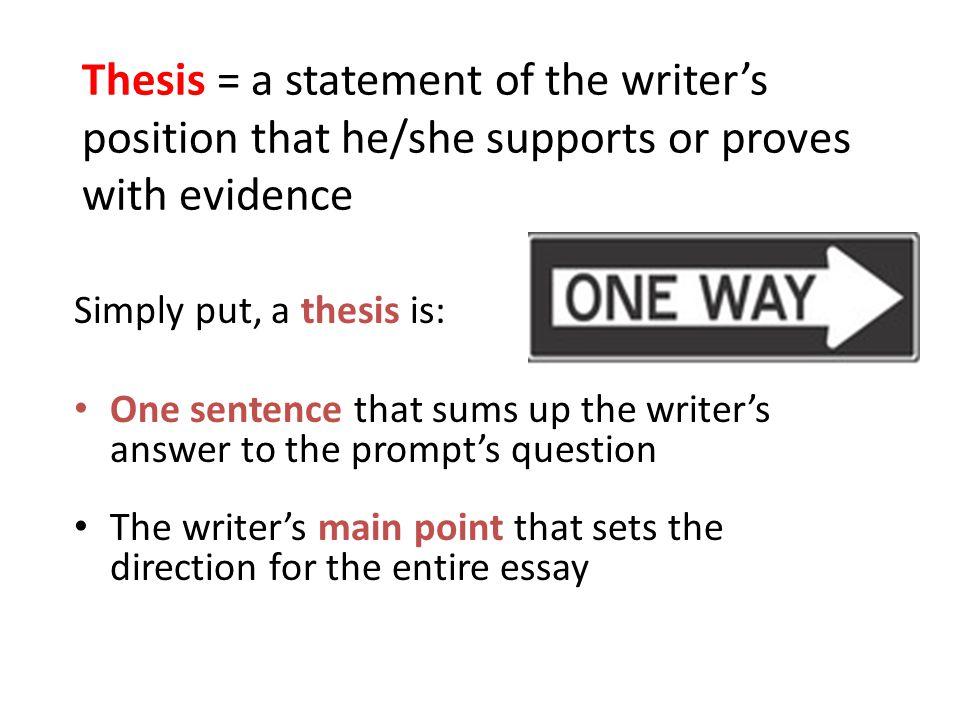 Thesis sentence writer