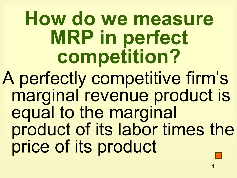 How do we measure MRP in perfect competition