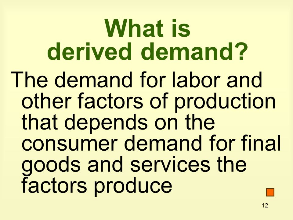 What is derived demand