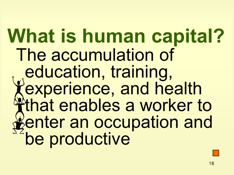 What is human capital.
