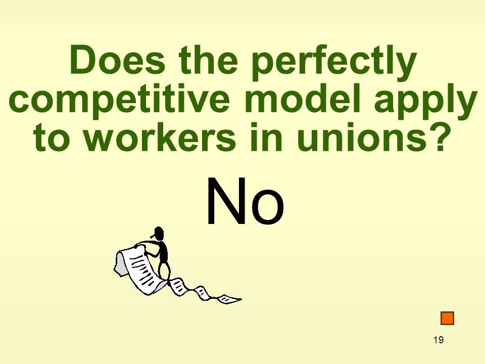 Does the perfectly competitive model apply to workers in unions