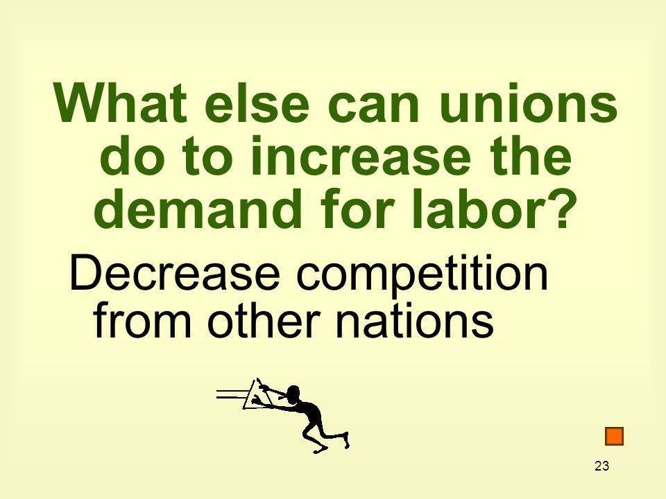 What else can unions do to increase the demand for labor