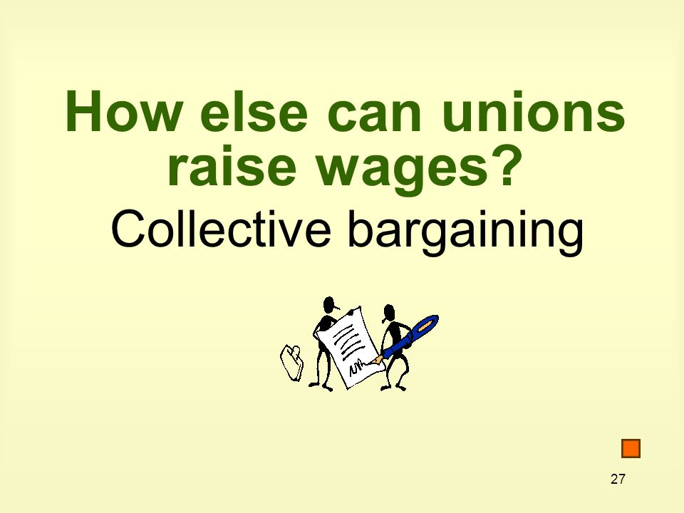 How else can unions raise wages