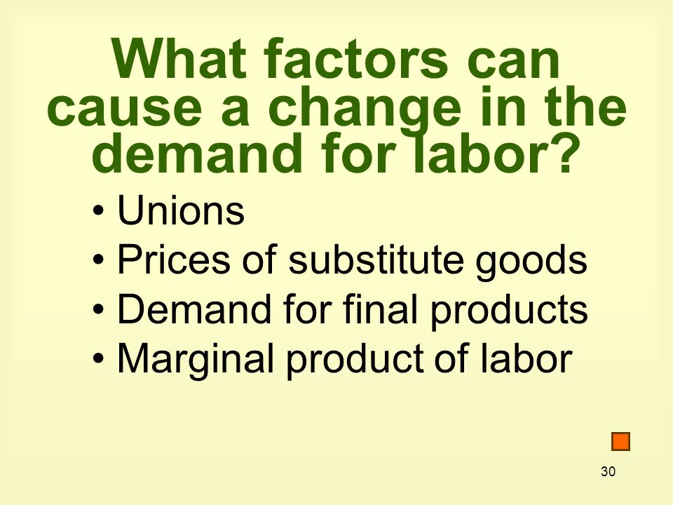 What factors can cause a change in the demand for labor