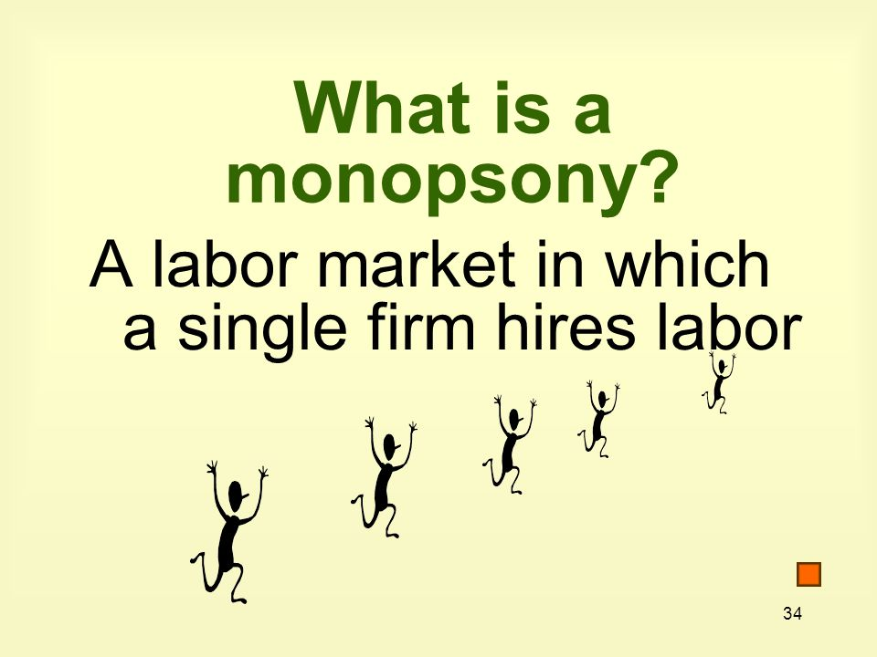 What is a monopsony A labor market in which a single firm hires labor