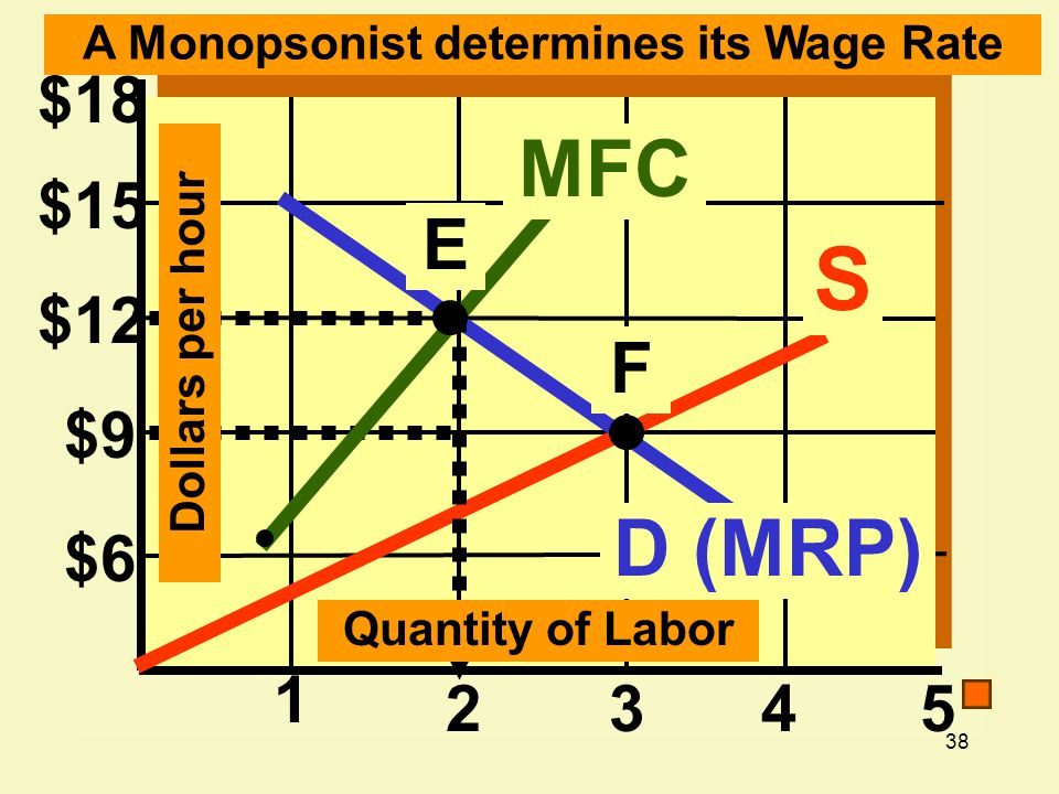 A Monopsonist determines its Wage Rate