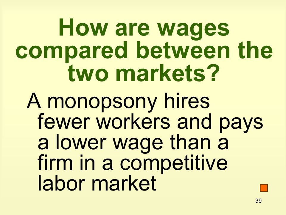 How are wages compared between the two markets