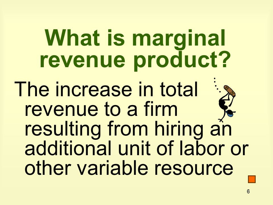 What is marginal revenue product