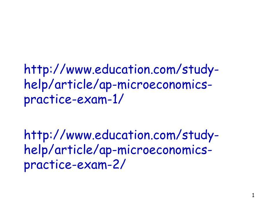 http://www.education.com/study-help/article/ap-microeconomics-practice-exam-1/ http://www.education.com/study-help/article/ap-microeconomics-practice-exam-2/