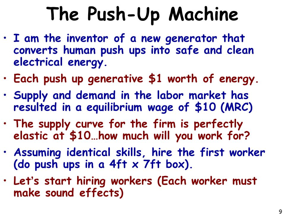 The Push-Up Machine I am the inventor of a new generator that converts human push ups into safe and clean electrical energy.