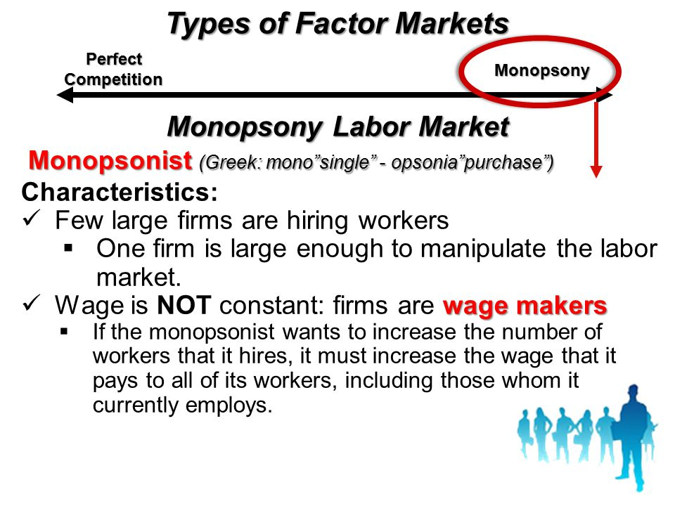 Types of Factor Markets Monopsony Labor Market