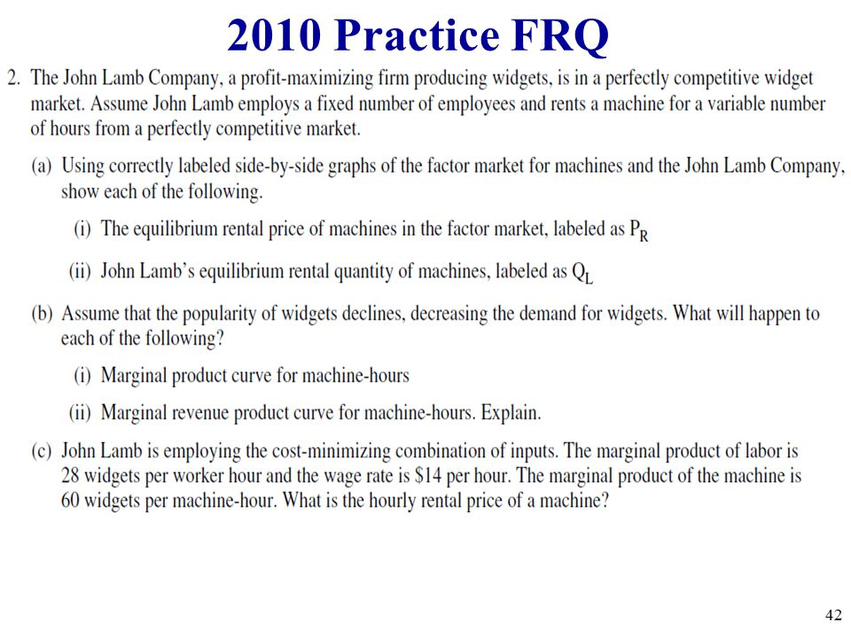 2010 Practice FRQ 3 apples and 2 oranges 42