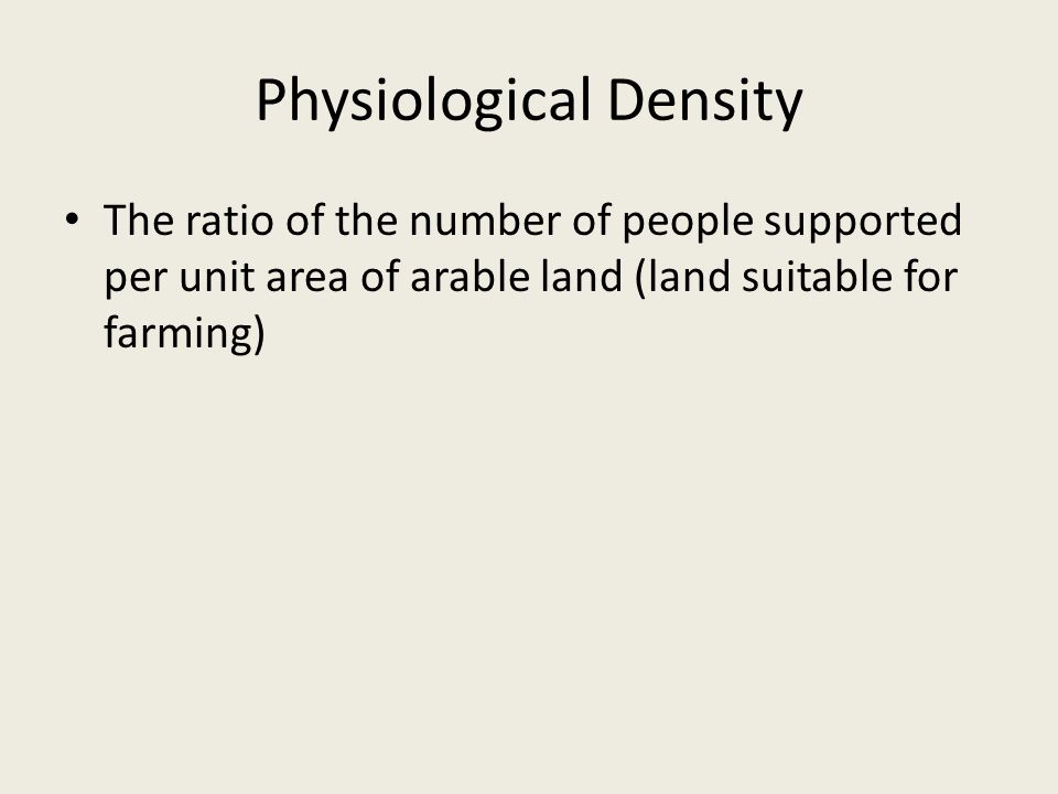 Physiological Density