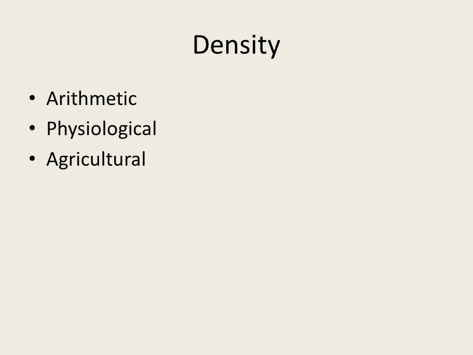 Density Arithmetic Physiological Agricultural