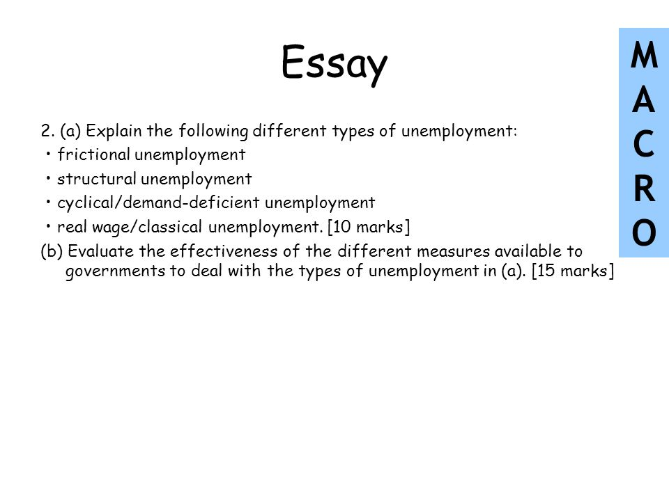 essay on problem of educated unemployment Education and unemployment of women jacob mincer nber the more education, the less unemployment digest — non-technical summaries of 4-8 working papers.