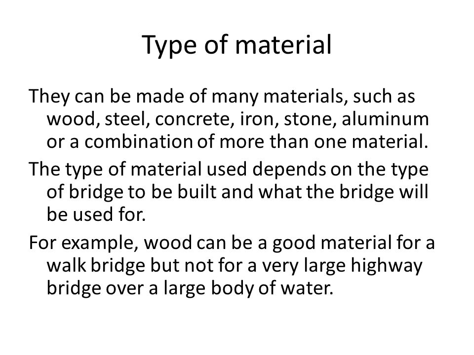 There are many types of bridges including ppt video for Anything made by waste material