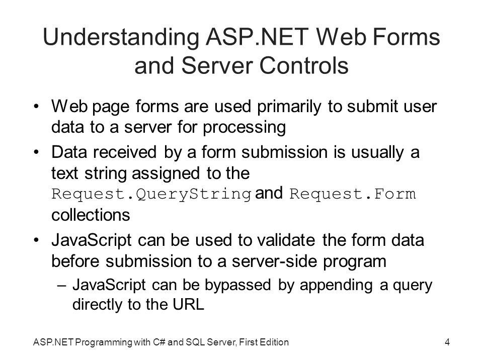 how to create web forms server control