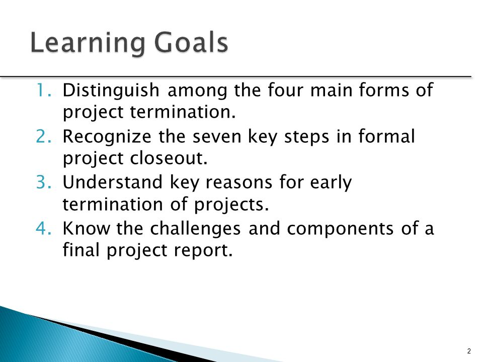 Project Close-Out And Termination - Ppt Video Online Download