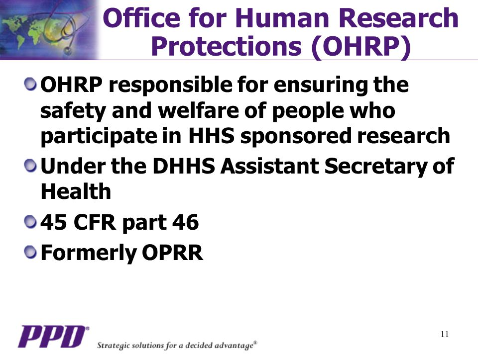 Office for Human Research Protections (OHRP)
