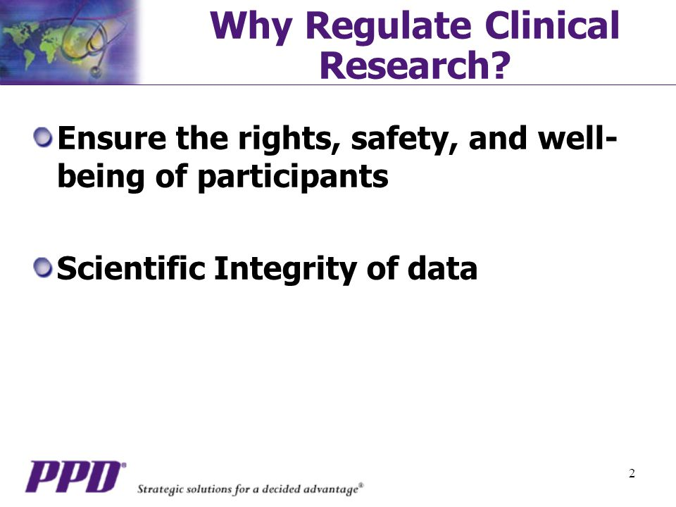 Why Regulate Clinical Research