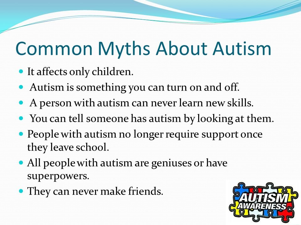 an overview and the common misconceptions about autism spectrum disorder Autism spectrum disorder (asd) is a complex developmental disorder that affects the brain's normal development children with asd have difficulties with social communication and interaction they also have narrow interests and repetitive behaviours.