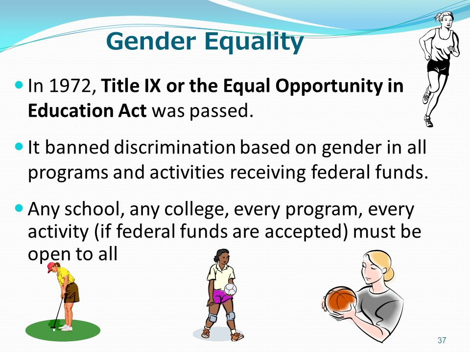 basketball gender discrimination How to avoid gender discrimination in athletics title ix prohibits gender discrimination in programs or activities that receive federal financial assistance – which means it applies to nearly every elementary school, high school, and u.