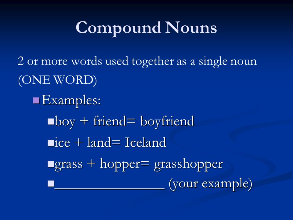 What Is A Noun A Noun Is A Person Place Thing Or Idea