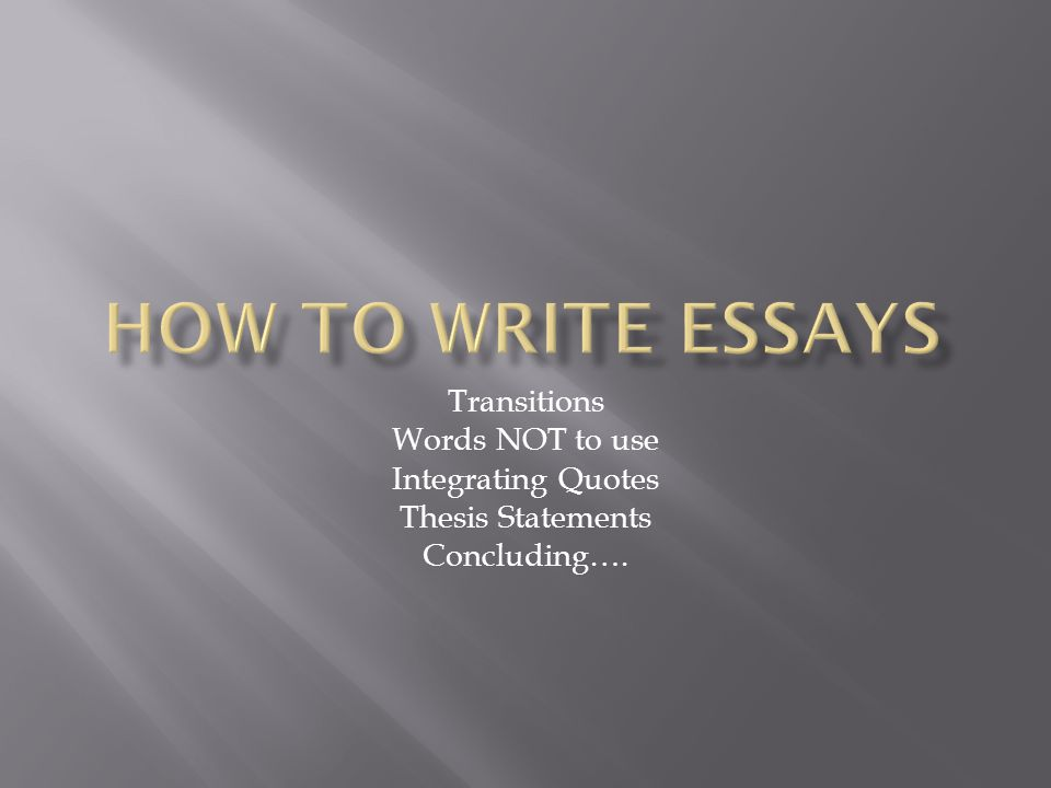 thesis essay transitions Linking words (also known as transitions) are one of the most important elements in writing, since they allow readers to see the relationships between your ideas.