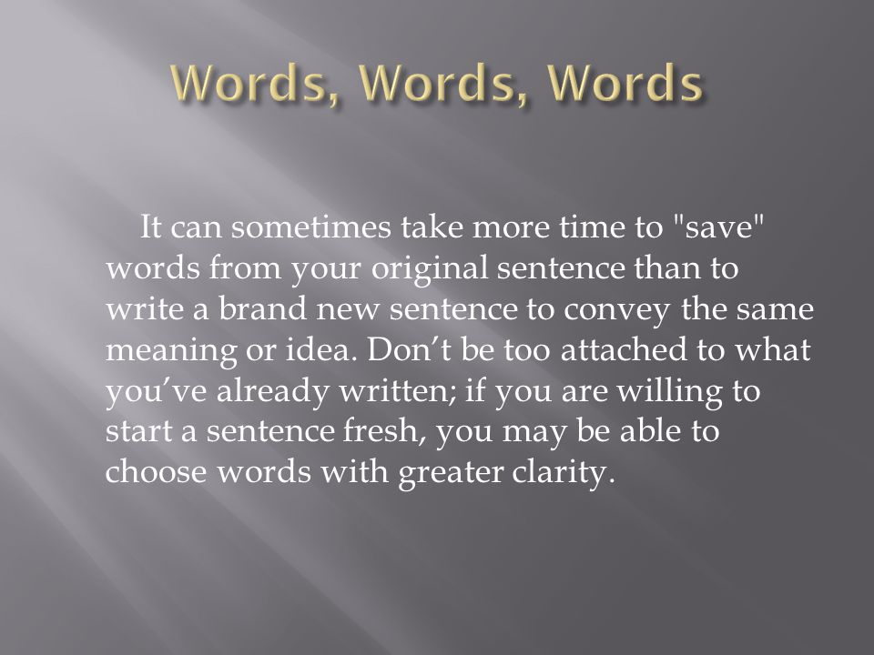 Words not to use in essay