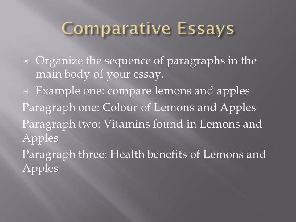 a comparative essay A quick guide to writing a comparative essay followed by a template to compare the movies a knight's tale and the princess bride-- created using powtoon -- f.