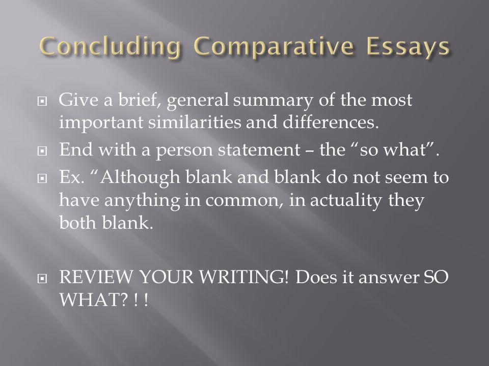 Essay so what statement