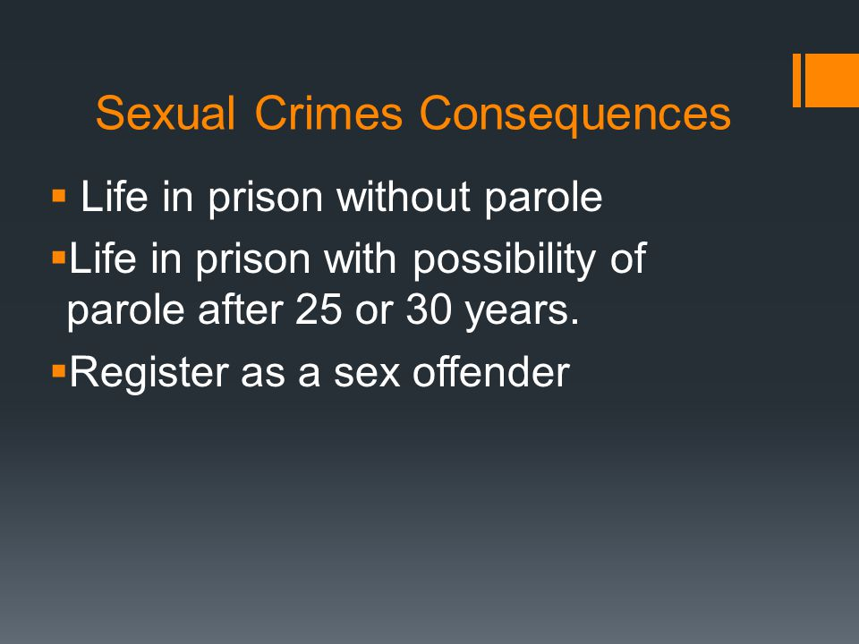 Sexual Crimes Consequences