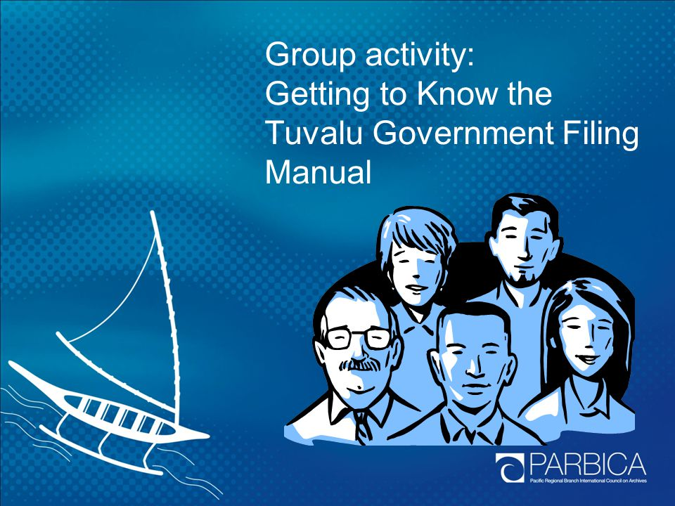 Group activity: Getting to Know the Tuvalu Government Filing Manual