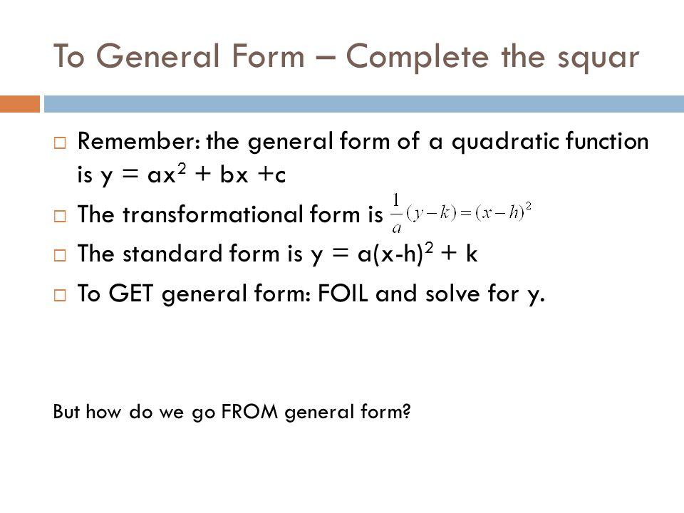 Standard Form To General Form Kopepulsar