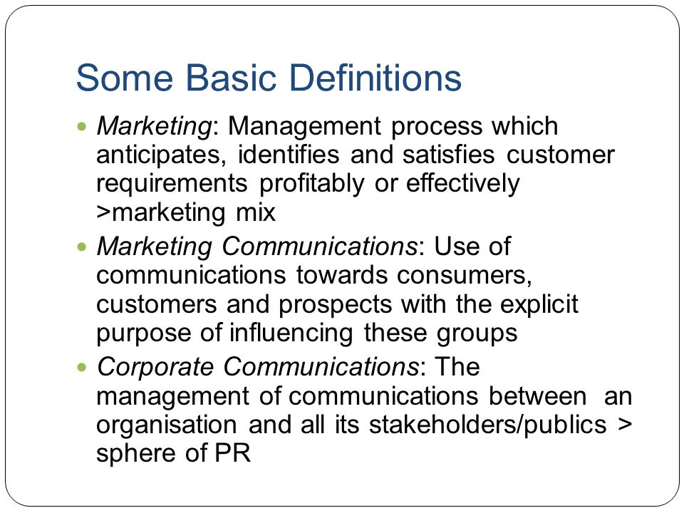 marketing communication process and tool Describing the communications process the heightened appreciation model is another tool introduction to marketing communications 14.