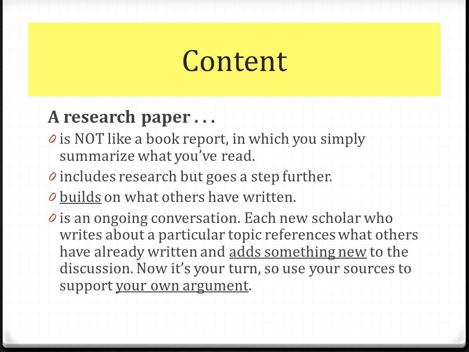The Research Paper & Apa - Ppt Download