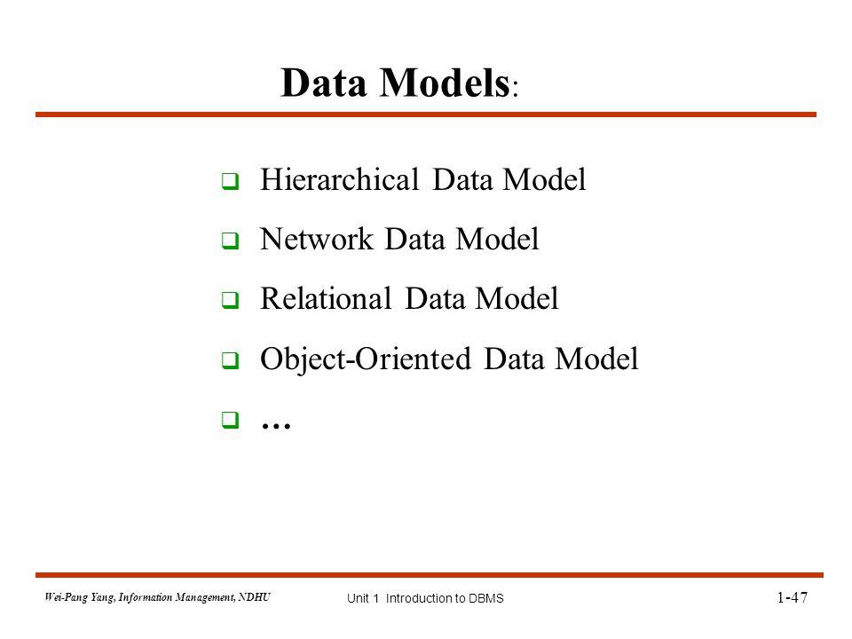 object oriented data model in dbms pdf