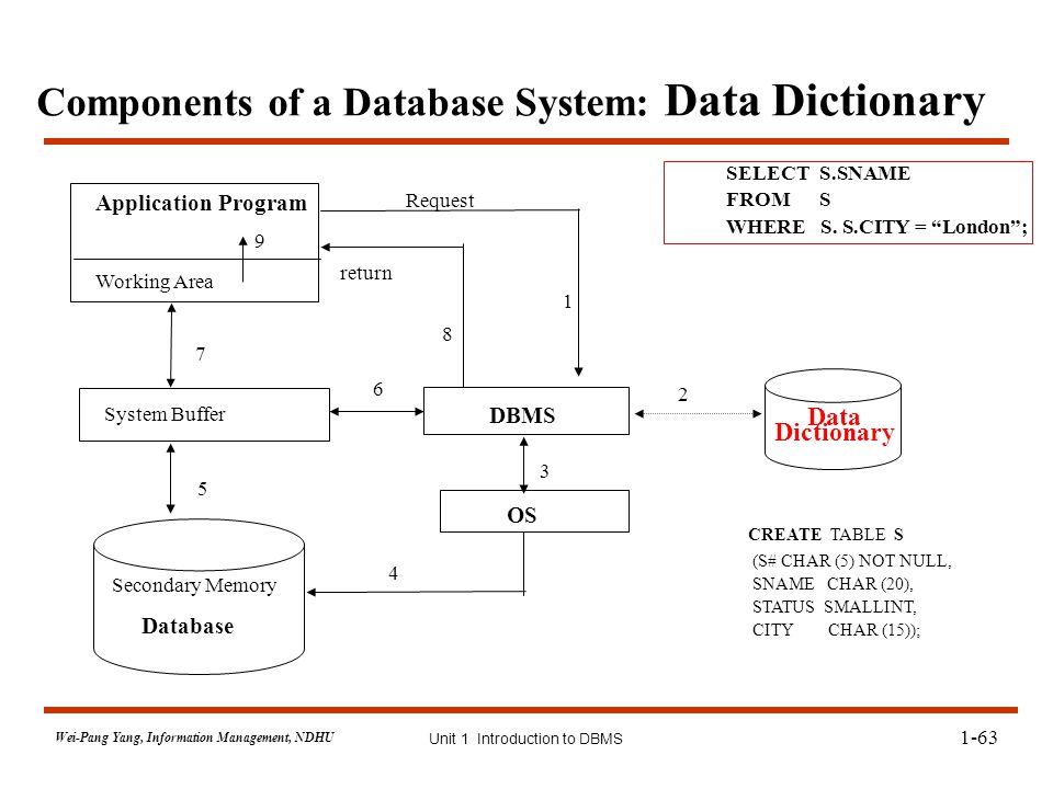 components of database management system pdf