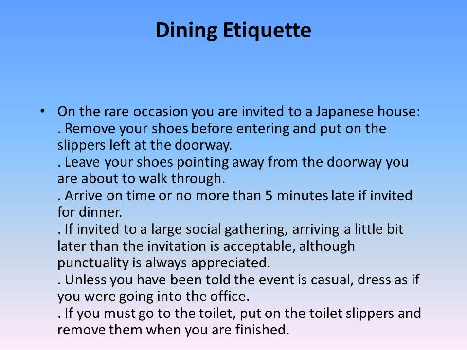 Japan Language Culture Customs and Etiquette ppt download : DiningEtiquette from slideplayer.com size 960 x 720 jpeg 105kB